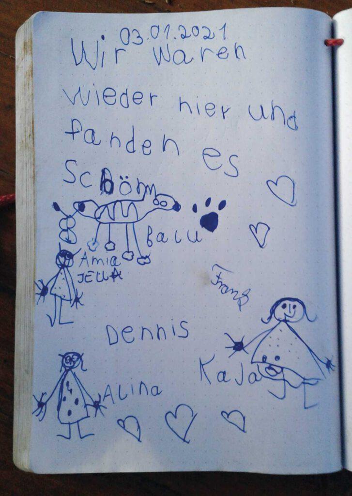Besucherbuch Kinderwald Horneburg