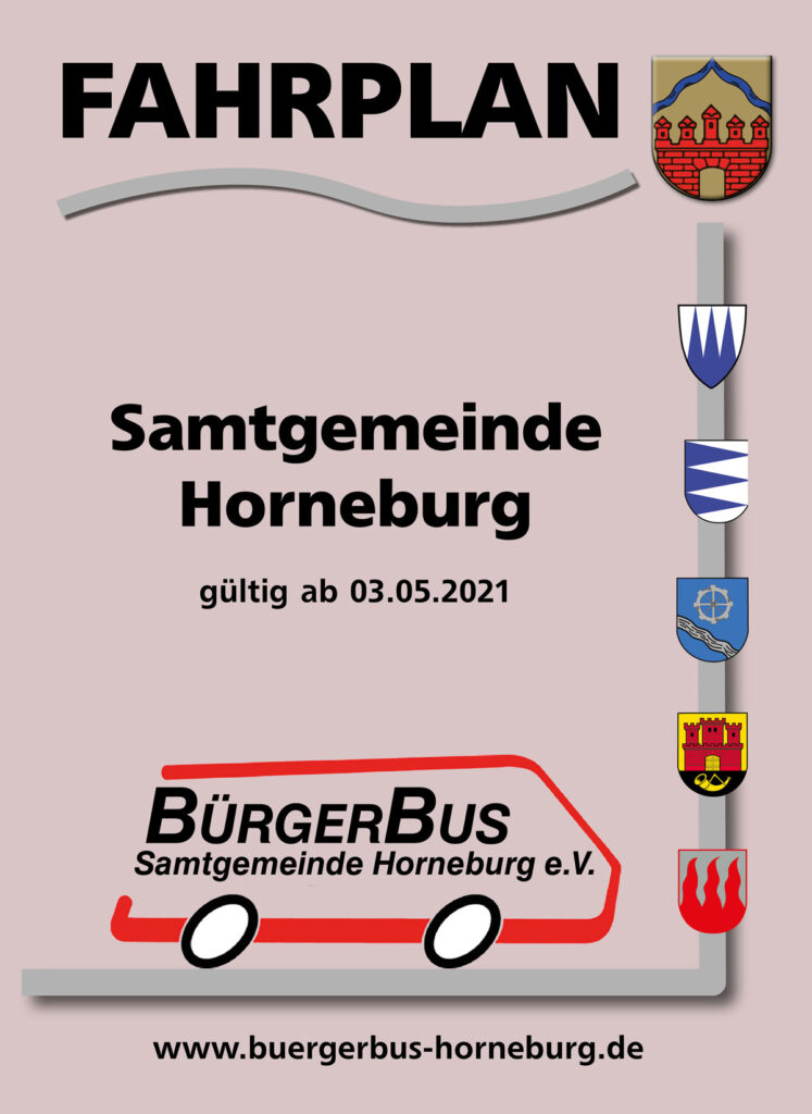 Fahrplan Bürgerbus 2021