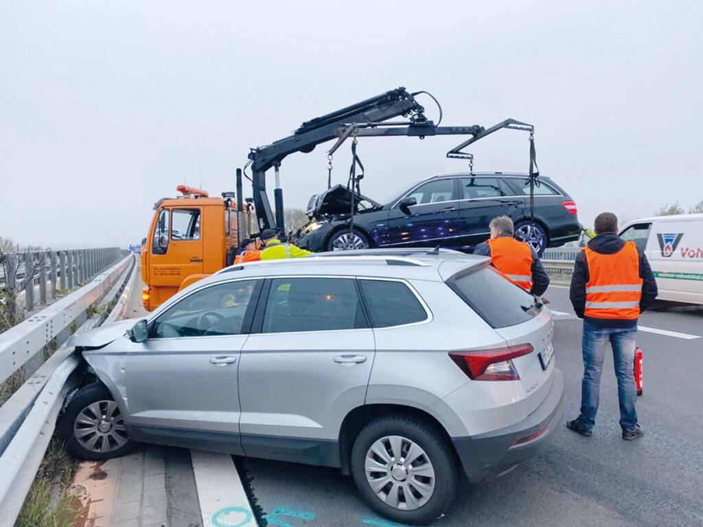 Unfall auf der A26